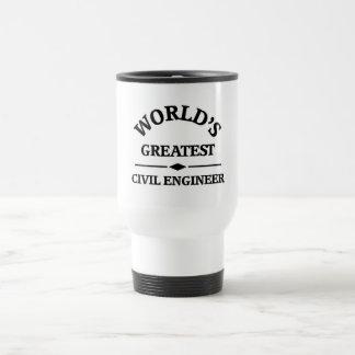 El ingeniero civil más grande del mundo taza de viaje de acero inoxidable