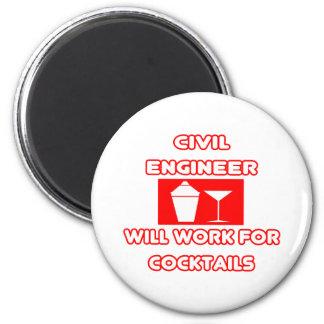 El ingeniero civil… trabajará para los cócteles imán redondo 5 cm