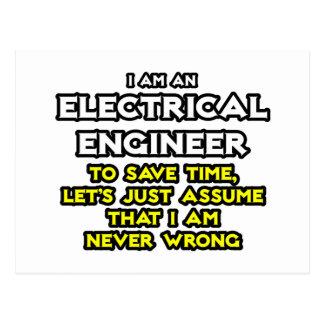 El ingeniero eléctrico… asume que nunca soy incorr postal