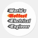 El ingeniero eléctrico más caliente del mundo pegatinas