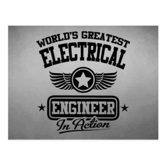 El ingeniero eléctrico más grande del mundo en la tarjetas postales