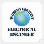 El ingeniero eléctrico más grande del mundo calcomania cuadradas