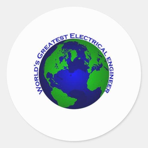 El ingeniero eléctrico más grande del mundo pegatinas redondas