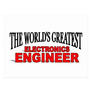 El ingeniero electrónico más grande del mundo tarjetas postales