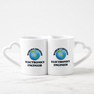 El ingeniero electrónico más grande del mundo tazas para parejas