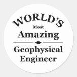 El ingeniero geofísico más asombroso del mundo etiquetas redondas