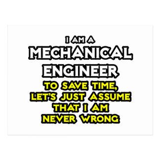 El ingeniero industrial… asume que nunca soy incor postal