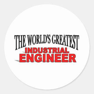 El ingeniero industrial más grande del mundo pegatina redonda