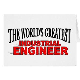 El ingeniero industrial más grande del mundo tarjeta de felicitación