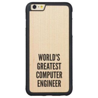 El ingeniero informático más grande de los mundos funda de arce bumper carved® para iPhone 6 plus
