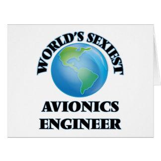 El ingeniero más atractivo de la aviónica del felicitación