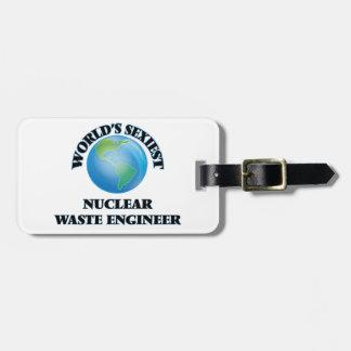 El ingeniero más atractivo de la basura nuclear etiquetas para maletas