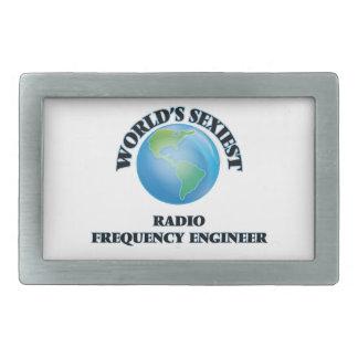 El ingeniero más atractivo de la radiofrecuencia hebilla de cinturón rectangular