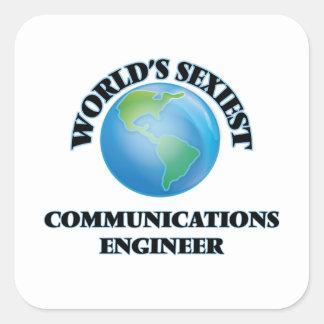El ingeniero más atractivo de las comunicaciones calcomanías cuadradas