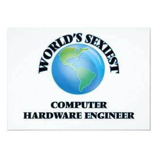 El ingeniero más atractivo del hardware del mundo invitación 12,7 x 17,8 cm