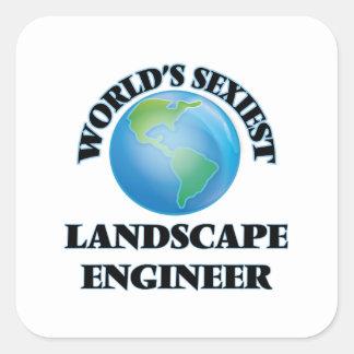 El ingeniero más atractivo del paisaje del mundo pegatina cuadradas personalizada