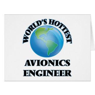 El ingeniero más caliente de la aviónica del mundo tarjeta