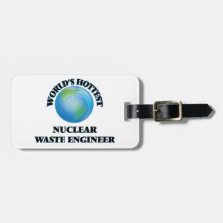 El ingeniero más caliente de la basura nuclear del etiqueta para equipaje