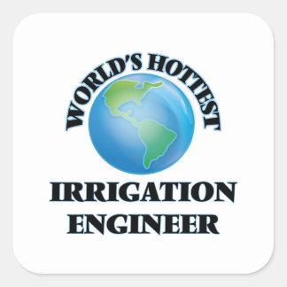 El ingeniero más caliente de la irrigación del pegatina cuadrada