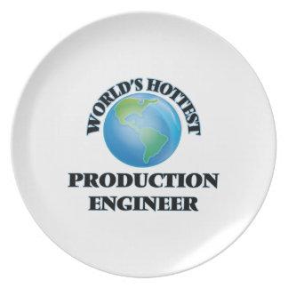 El ingeniero más caliente de la producción del plato de cena