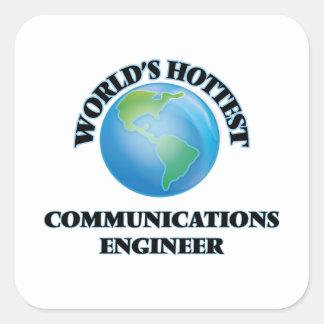 El ingeniero más caliente de las comunicaciones colcomanias cuadradas personalizadas