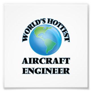 El ingeniero más caliente de los aviones del mundo impresión fotográfica