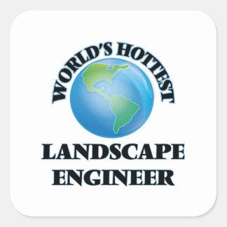 El ingeniero más caliente del paisaje del mundo colcomanias cuadradas