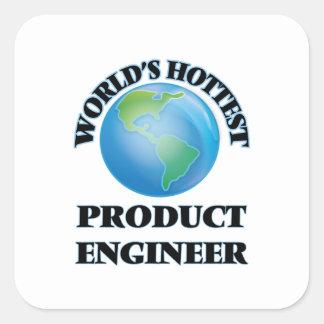El ingeniero más caliente del producto del mundo calcomanía cuadradas