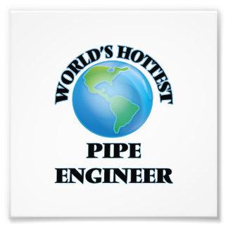 El ingeniero más caliente del tubo del mundo foto
