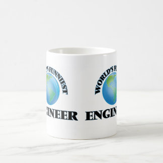 El ingeniero más divertido del mundo taza básica blanca