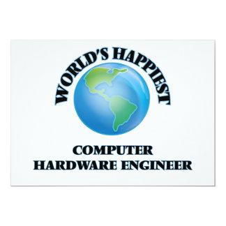 El ingeniero más feliz del hardware del mundo invitación 12,7 x 17,8 cm