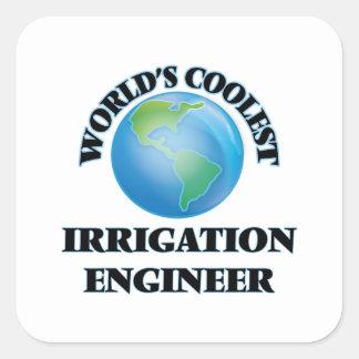 El ingeniero más fresco de la irrigación del mundo pegatina cuadrada
