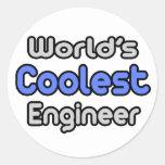 El ingeniero más fresco del mundo pegatina redonda