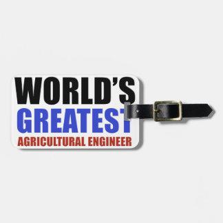 El ingeniero más grande de la agricultura del mund etiquetas bolsa