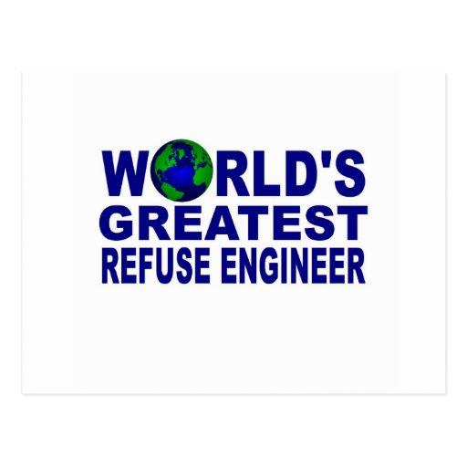 El ingeniero más grande de la basura del mundo tarjetas postales
