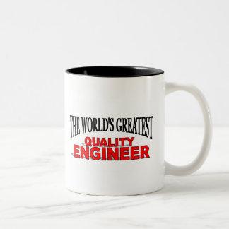 El ingeniero más grande de la calidad del mundo taza dos tonos