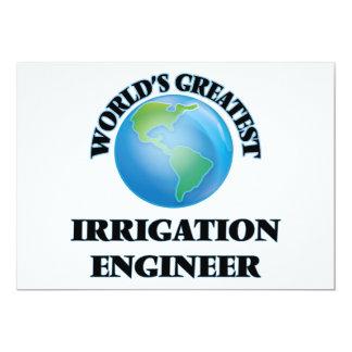 El ingeniero más grande de la irrigación del mundo invitación personalizada