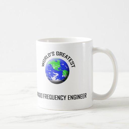 El ingeniero más grande de la radiofrecuencia del taza básica blanca