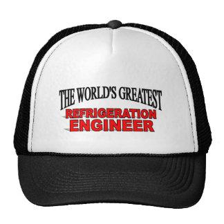 El ingeniero más grande de la refrigeración del mu gorras de camionero