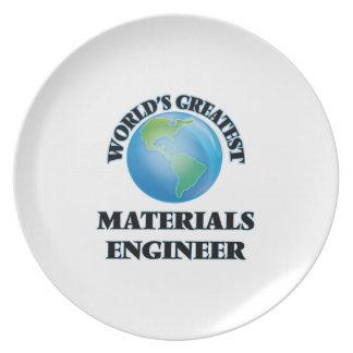 El ingeniero más grande de los materiales del plato de comida