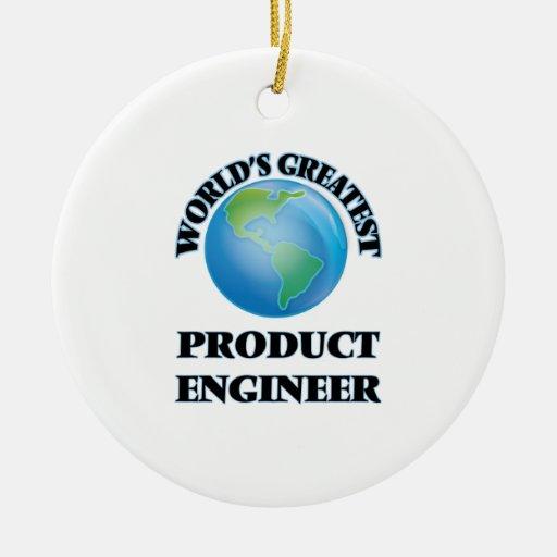 El ingeniero más grande del producto del mundo ornaments para arbol de navidad