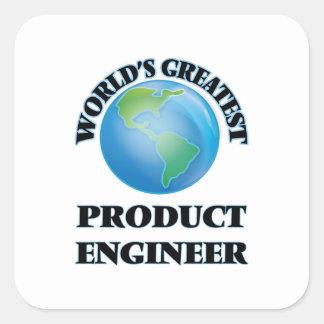 El ingeniero más grande del producto del mundo pegatina cuadradas personalizada