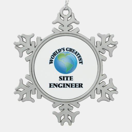 El ingeniero más grande del sitio del mundo adorno