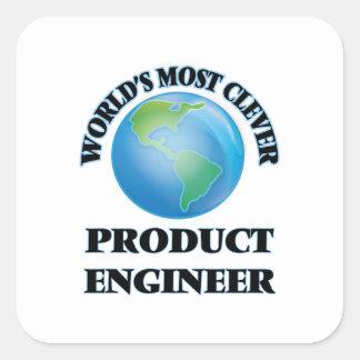 El ingeniero más listo del producto del mundo colcomanias cuadradas