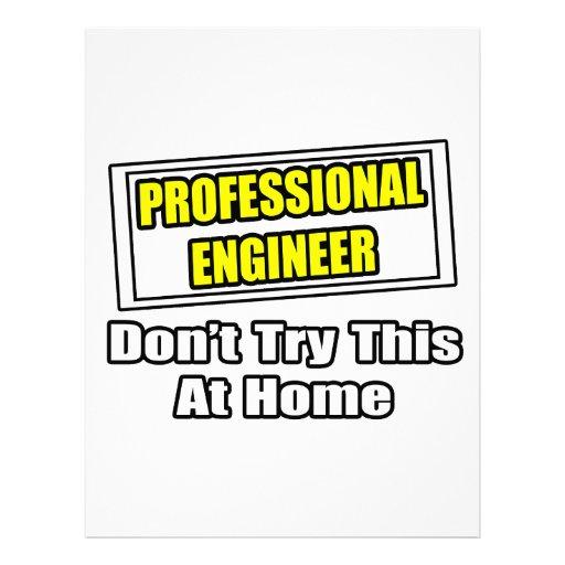 El ingeniero profesional… no intenta esto en casa plantilla de membrete