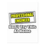 El ingeniero profesional… no intenta esto en casa postal