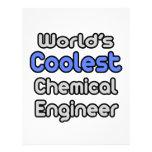 El ingeniero químico más fresco del mundo plantilla de membrete