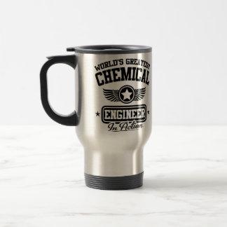 El ingeniero químico más grande del mundo en la taza de viaje de acero inoxidable