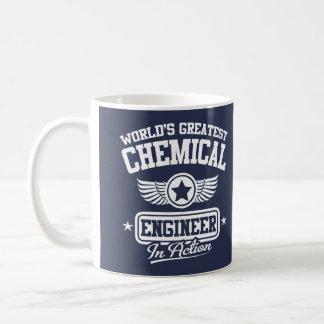 El ingeniero químico más grande del mundo en la taza básica blanca