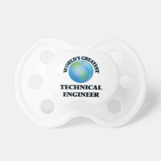 El ingeniero técnico más grande del mundo chupete de bebé